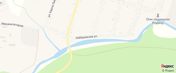 Набережная улица на карте поселка Нижнего Уфалея с номерами домов