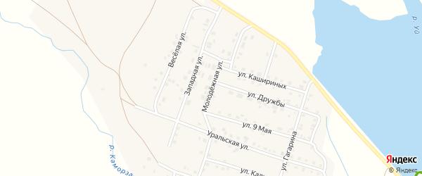 Молодежная улица на карте Уйского села с номерами домов