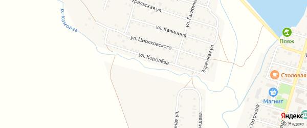 Улица Королева на карте Уйского села с номерами домов
