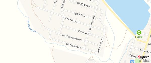 Улица Калинина на карте Уйского села с номерами домов