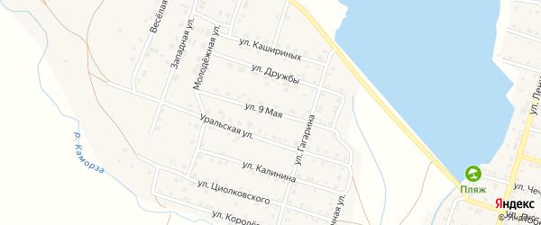 9 Мая улица на карте Уйского села с номерами домов