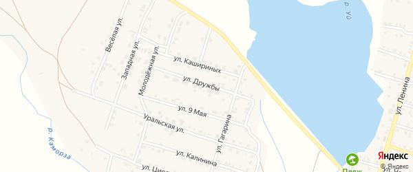 Улица Дружбы на карте Уйского села с номерами домов