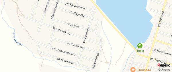 Улица Гагарина на карте Уйского села с номерами домов