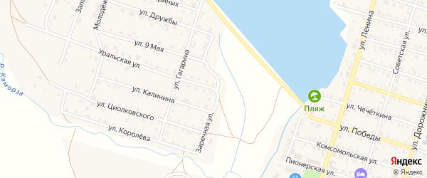 Заречная улица на карте Уйского села с номерами домов