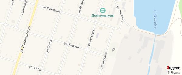 Улица Культуры на карте поселка Нижнего Уфалея с номерами домов