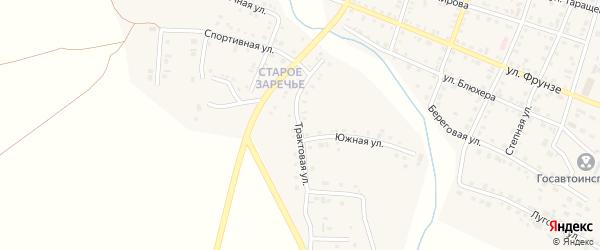 Трактовая улица на карте Уйского села с номерами домов