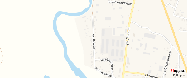 Улица Разина на карте Уйского села с номерами домов