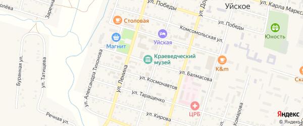 Улица Балмасова на карте Уйского села с номерами домов