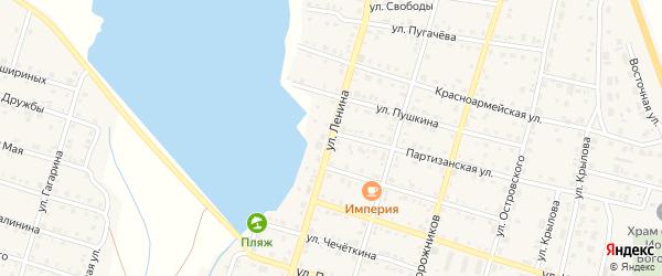 Улица Ленина на карте села Беляевки с номерами домов