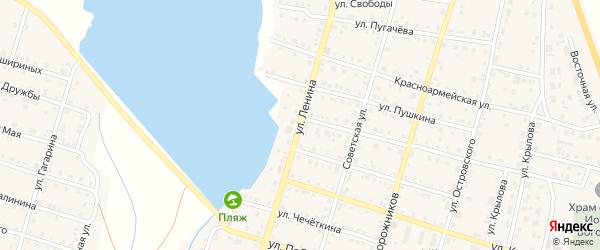 Улица Ленина на карте Уйского села с номерами домов