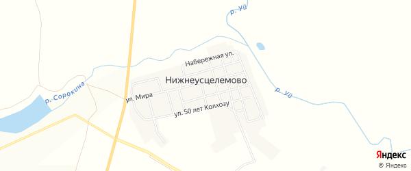 Карта села Нижнеусцелемово в Челябинской области с улицами и номерами домов