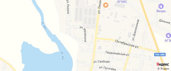 Улица Мелехина на карте Уйского села с номерами домов