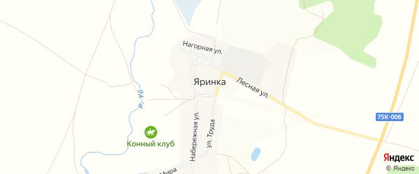 Карта деревни Яринки в Челябинской области с улицами и номерами домов