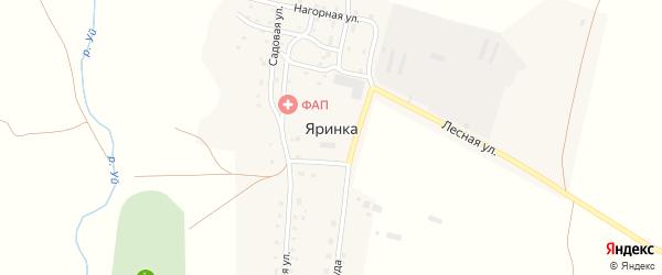 Солнечный переулок на карте деревни Яринки с номерами домов