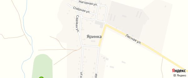 Улица Труда на карте деревни Яринки с номерами домов