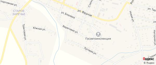 Береговая улица на карте Уйского села с номерами домов