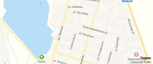 Улица Пушкина на карте Уйского села с номерами домов