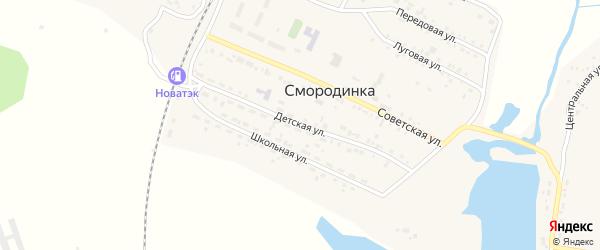 Детская улица на карте села Смородинки с номерами домов