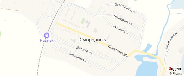 Советская улица на карте села Смородинки с номерами домов