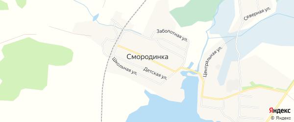 Карта села Смородинки города Миасса в Челябинской области с улицами и номерами домов