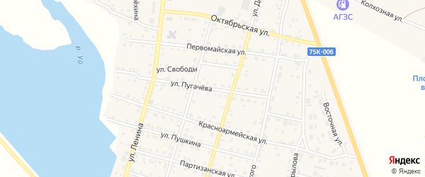 Улица Пугачева на карте Уйского села с номерами домов