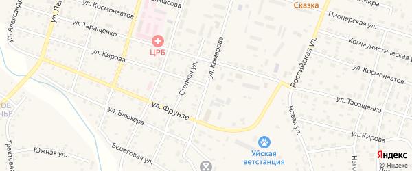 Улица Кирова на карте Уйского села с номерами домов