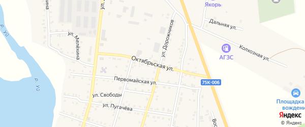 Октябрьская улица на карте Уйского села с номерами домов