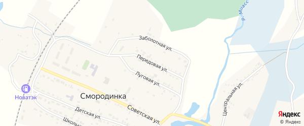 Передовая улица на карте села Смородинки с номерами домов