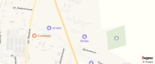 Балтийская улица на карте Уйского села с номерами домов