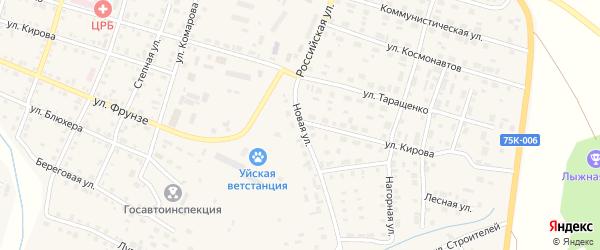 Новая улица на карте Уйского села с номерами домов