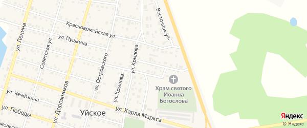 Улица Бахметьева на карте Уйского села с номерами домов