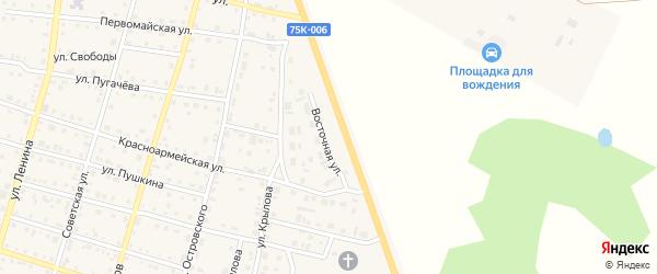 Восточная улица на карте Уйского села с номерами домов