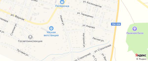 Кооперативная улица на карте Уйского села с номерами домов