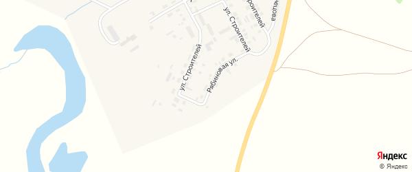 Рябиновая улица на карте Уйского села с номерами домов