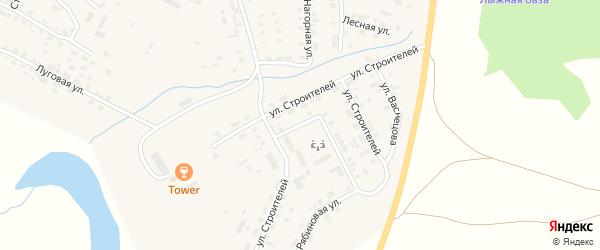 Улица Строителей на карте Уйского села с номерами домов