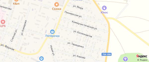 Улица Космонавтов на карте Уйского села с номерами домов