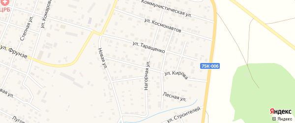 Нагорная улица на карте Уйского села с номерами домов