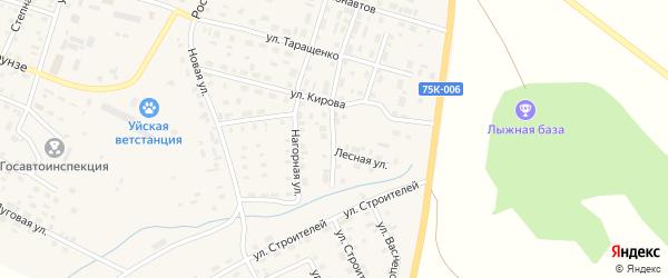 Цветочная улица на карте Уйского села с номерами домов