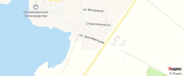 Улица Земледельцев на карте села Смородинки с номерами домов
