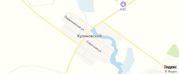 Карта Куликовского поселка в Челябинской области с улицами и номерами домов