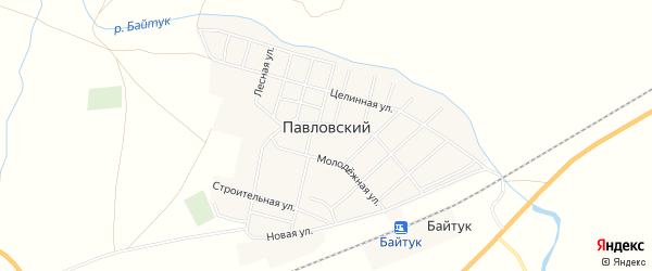 Карта Павловского поселка в Челябинской области с улицами и номерами домов