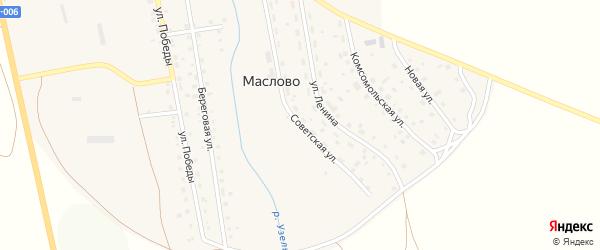 Советская улица на карте села Маслово с номерами домов