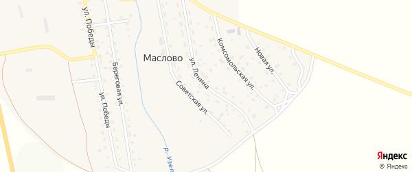 Улица Ленина на карте села Маслово с номерами домов