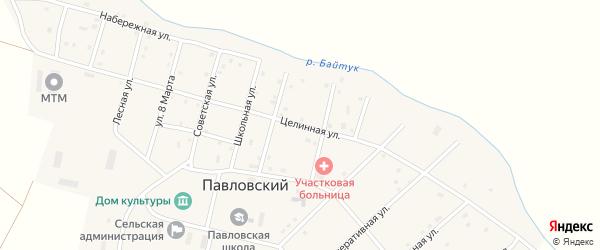 Целинная улица на карте Павловского поселка с номерами домов