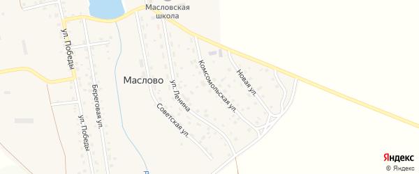 Гаражная улица на карте села Маслово с номерами домов