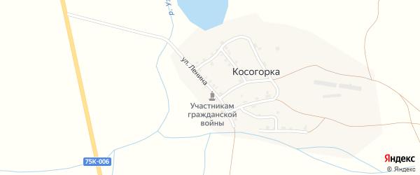 Улица Ленина на карте деревни Косогорки с номерами домов