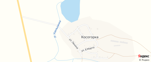 Нагорная улица на карте деревни Косогорки с номерами домов
