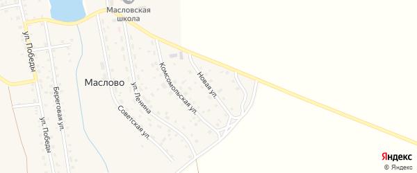 Новая улица на карте села Маслово с номерами домов
