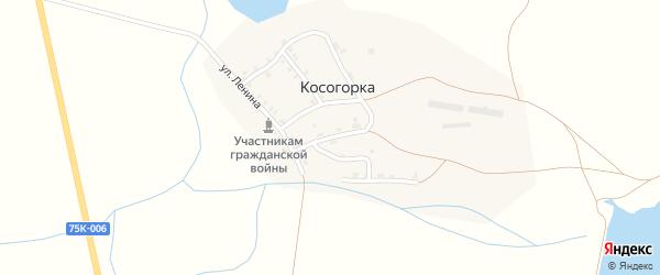 Улица 8 Марта на карте деревни Косогорки с номерами домов