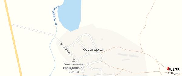 Молодежная улица на карте деревни Косогорки с номерами домов
